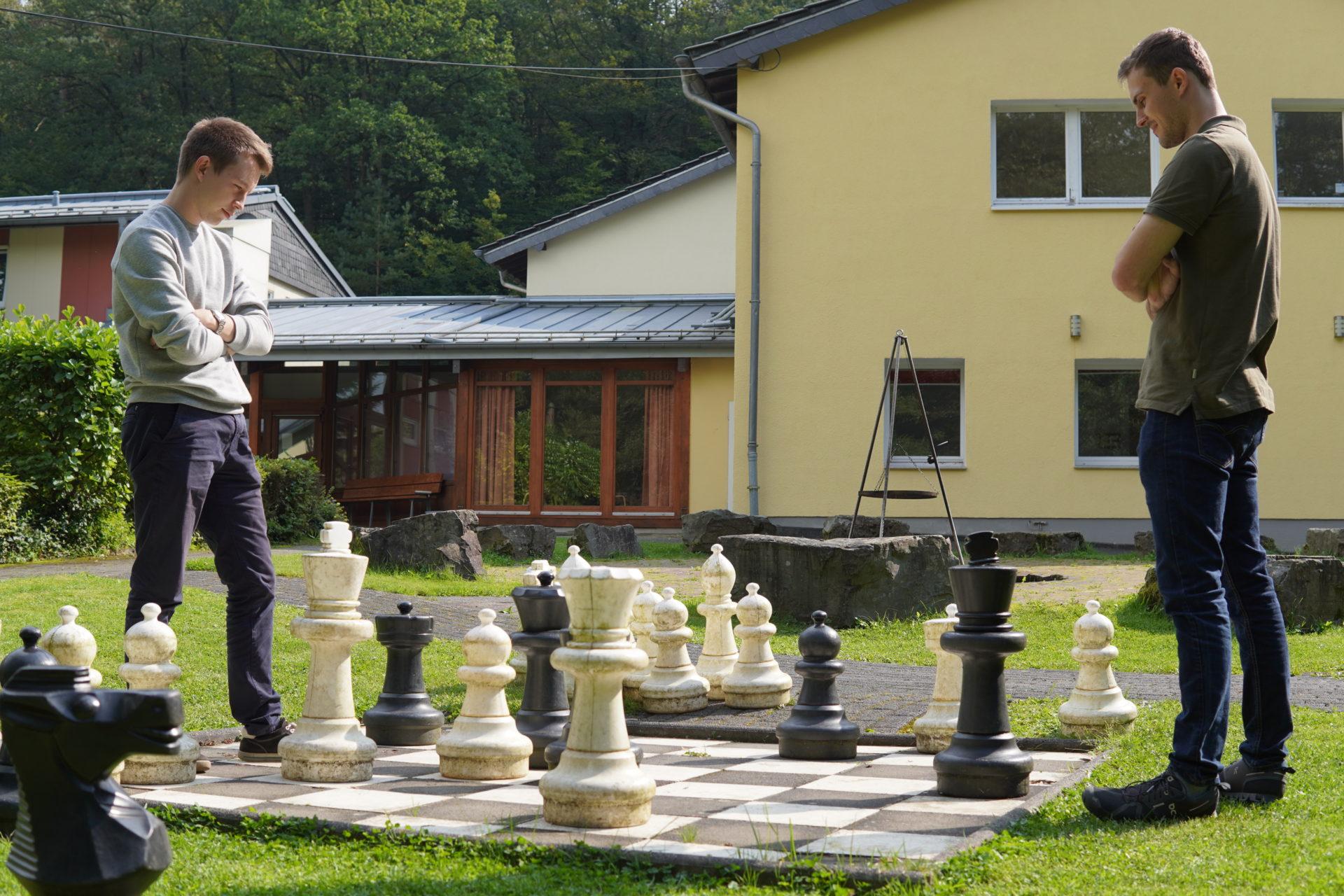 KJBler spielen Schach